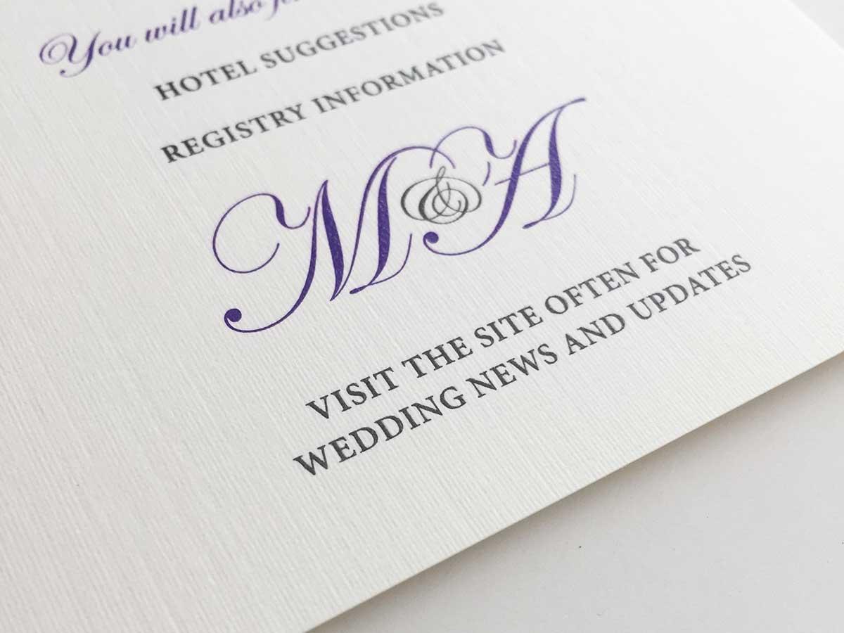Lavish Wedding Invitation | White Tie Designs