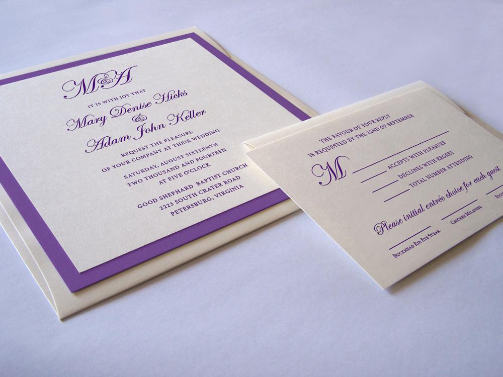 Square Pocketfold Wedding Invitation